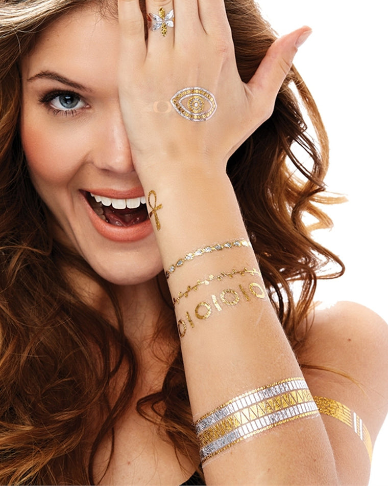 Metallic Jewelry Temporary Tattoos