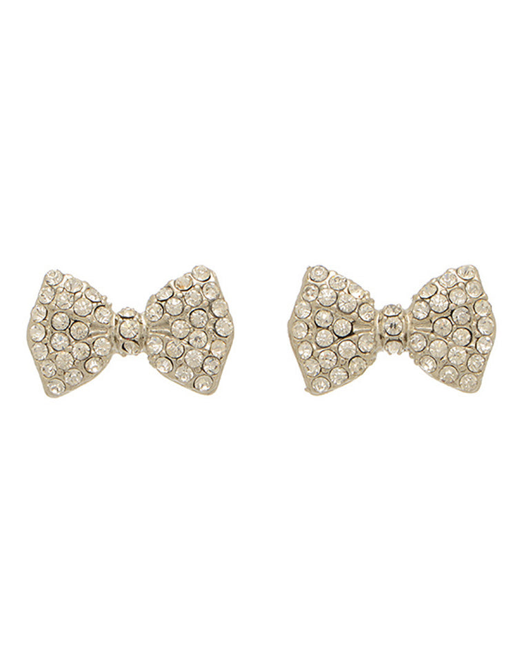 Pave Bow Studs