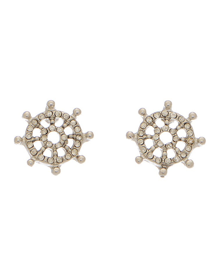 Captain's Wheel Stud Earrings