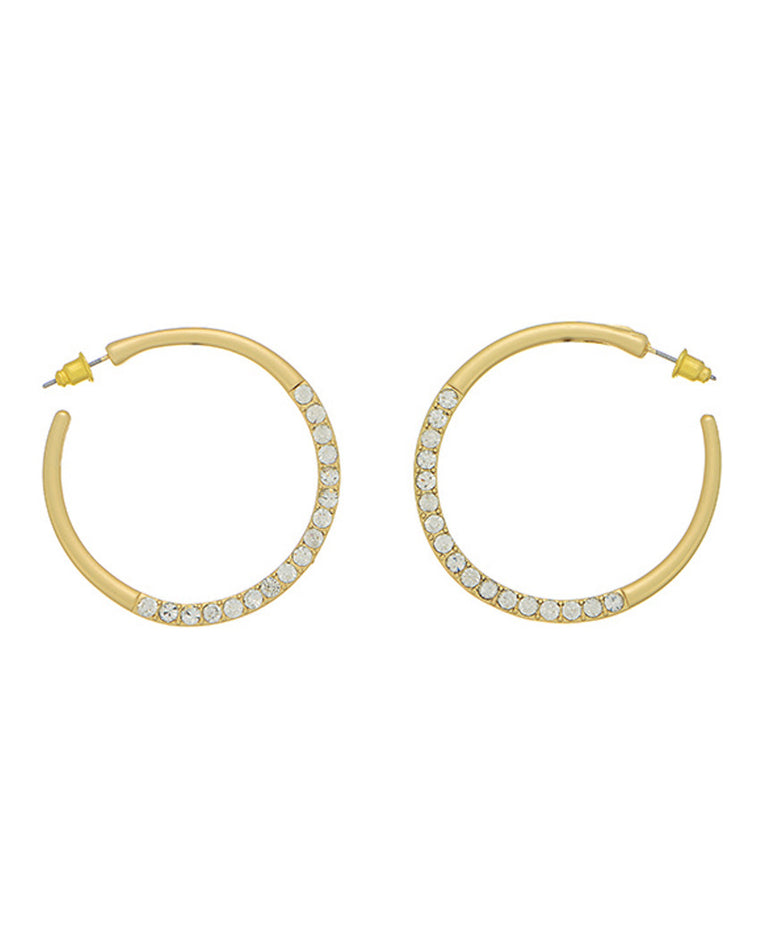 Ally Crystal Hoop Earrings