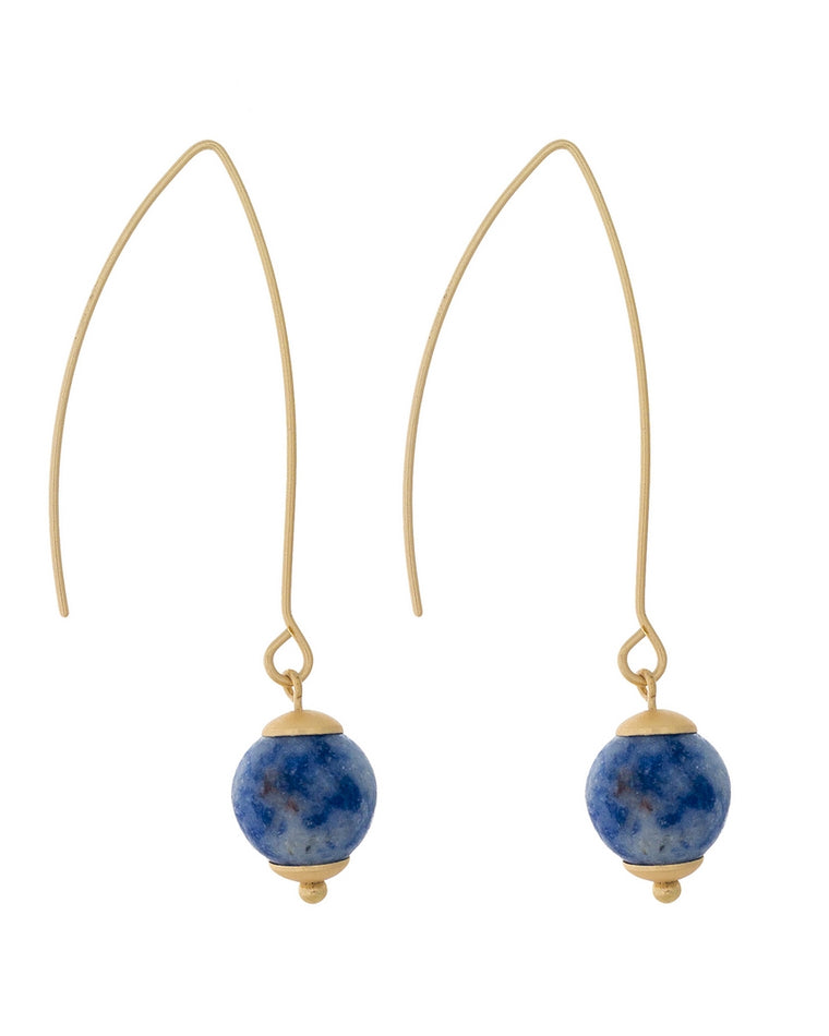 Alyssa Stone Bead Drop Earrings