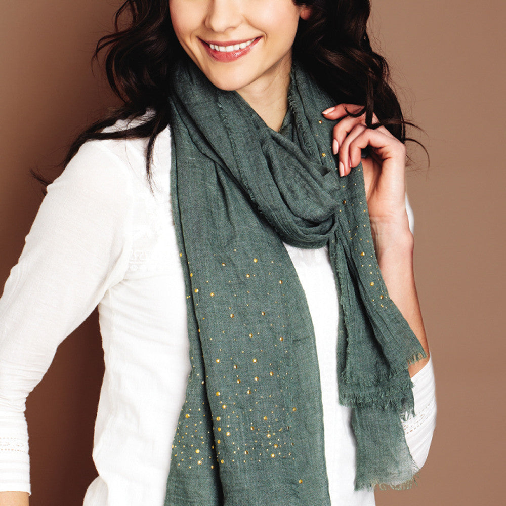 Golden Edges Stud Scarf
