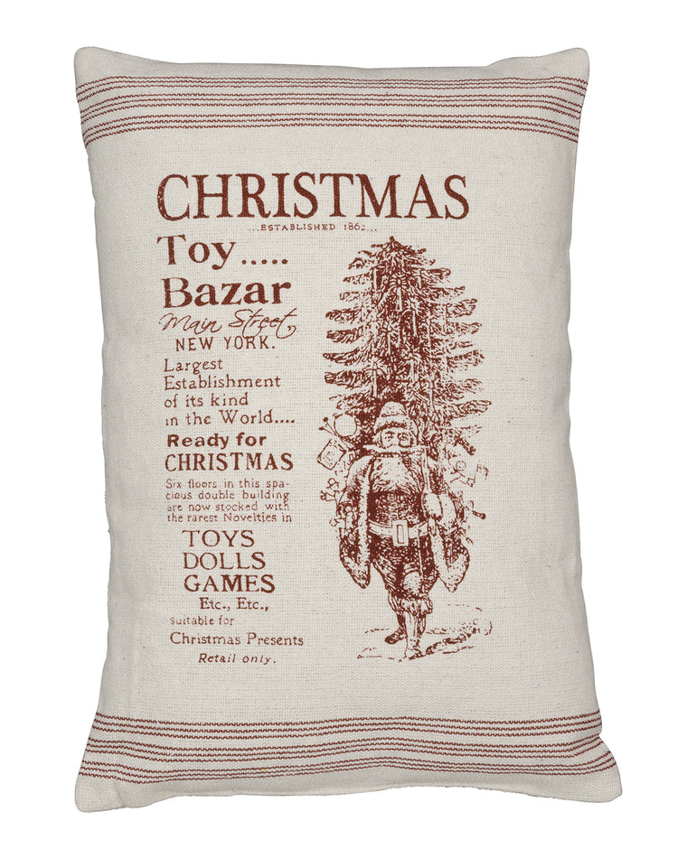 Toy Bazar Holiday Pillow