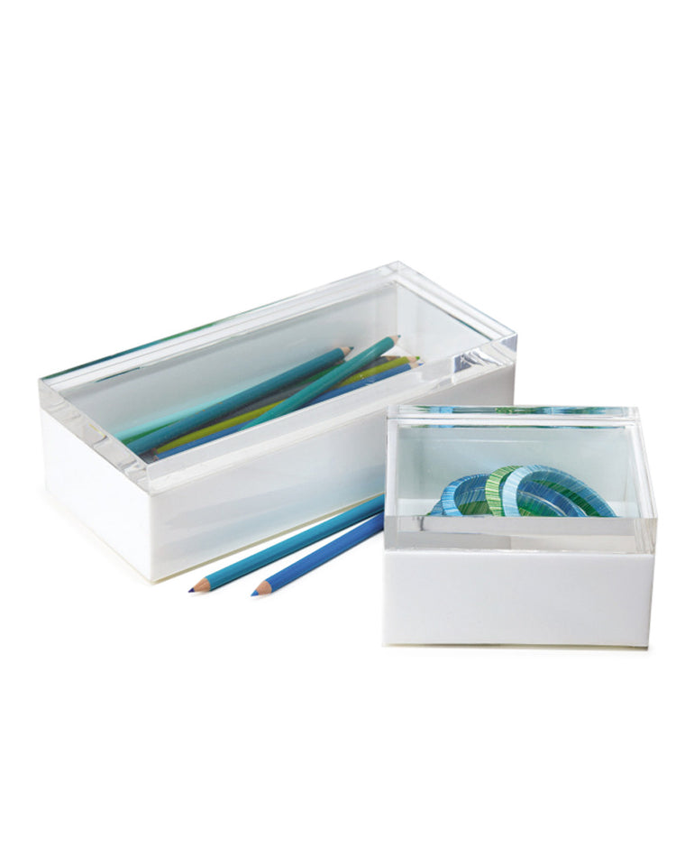 White Acrylic Boxes Set