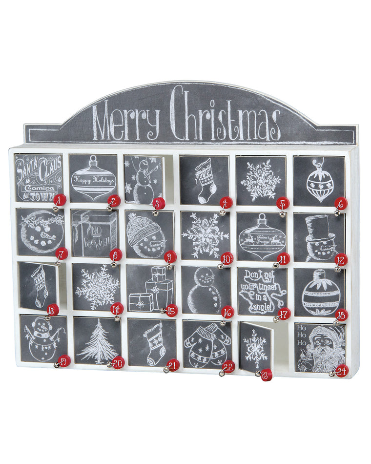 Chalk-Style Countdown Advent Calender