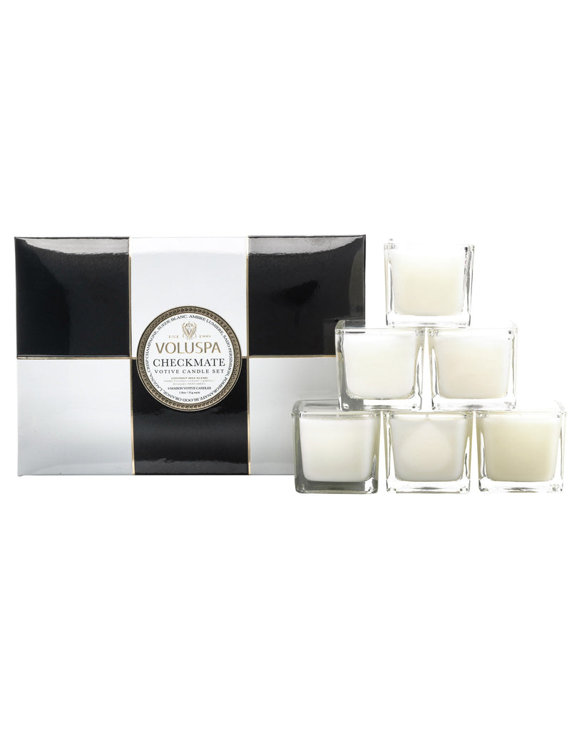'Maison Checkmate' Votive Candle Set