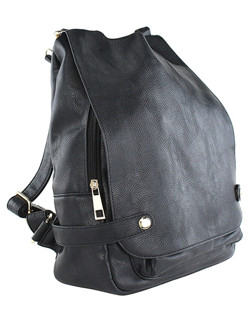 Pebble Leather Backpack Purse