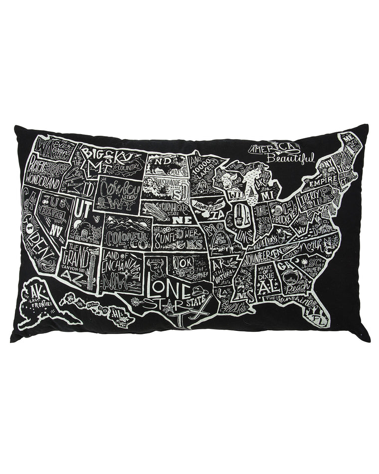 American the Beautiful Floor Pillow