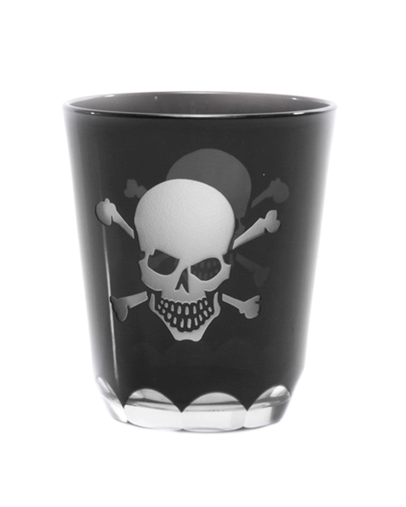 Skull and Crossbones Glass Set
