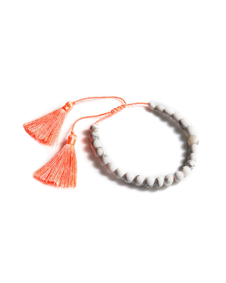 Java Neon Tassel Beaded Bracelet
