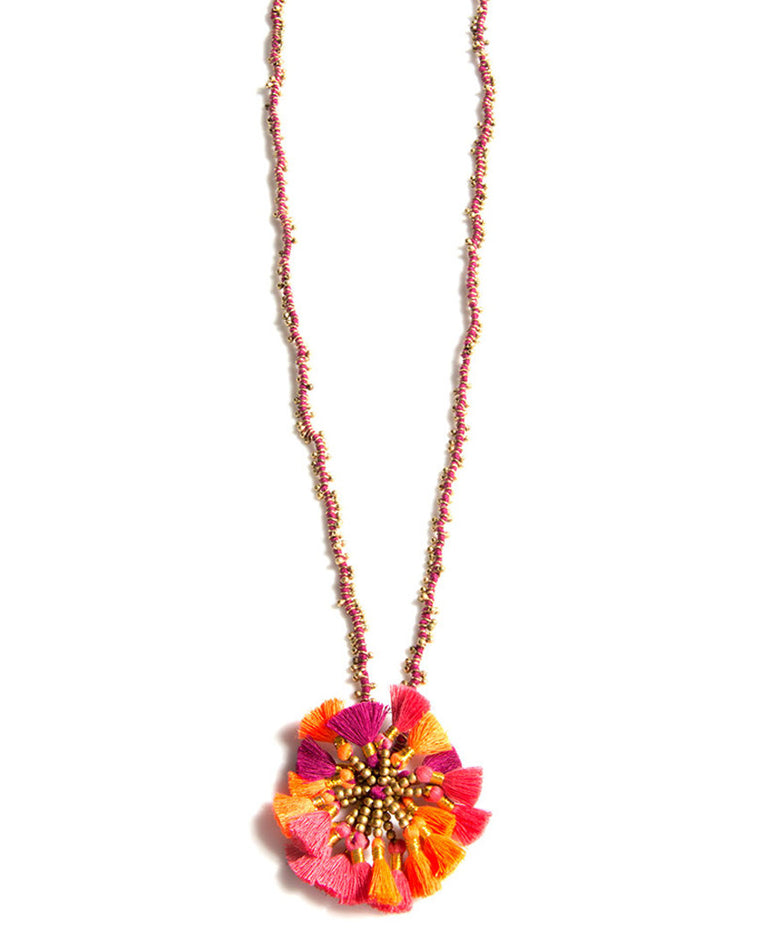 Kali Fringe Pendant Necklace