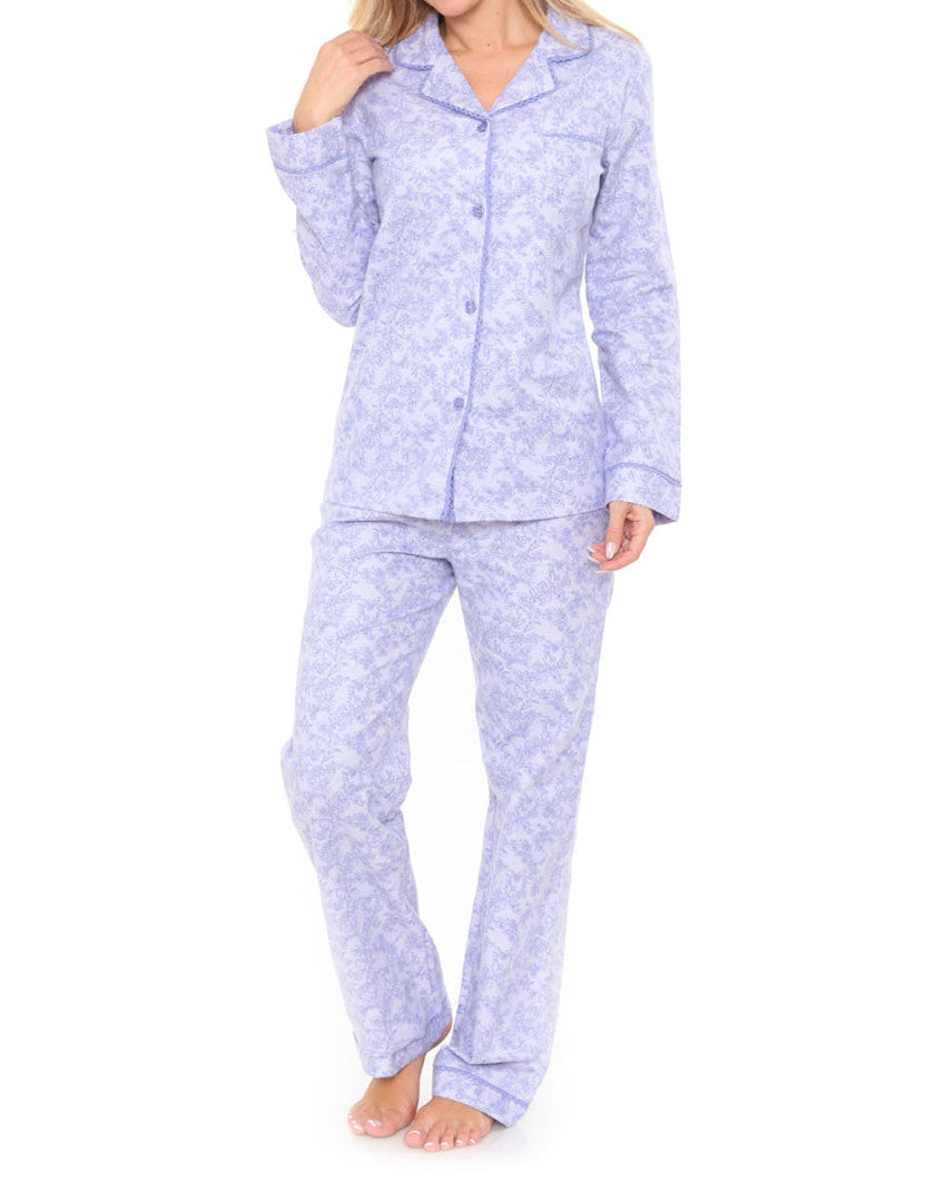 Purple Paisley Flannel Pajama Set - The Shopping Bag 615656b47