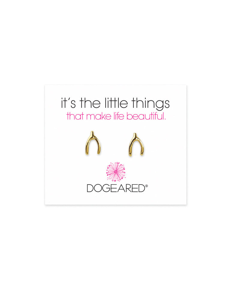Dogeared 'It's the Little Things' Wishbone Studs
