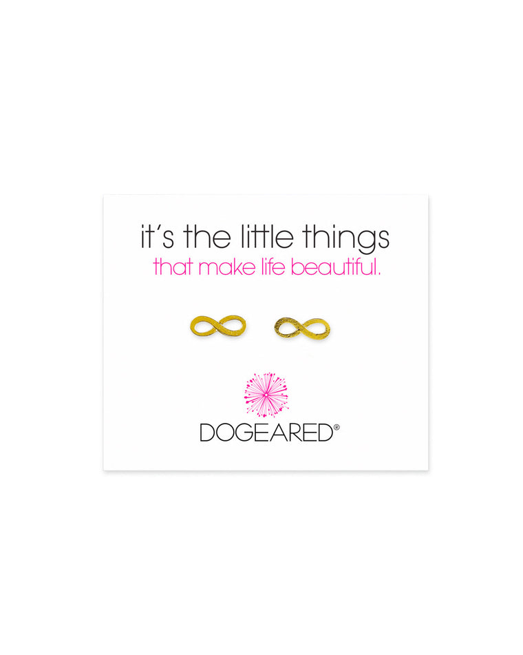 Dogeared 'It's the Little Things' Infinity Symbol Studs
