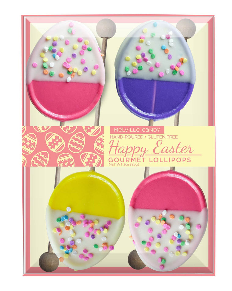 White Chocolate Dipped Egg Lollipop Gift Set