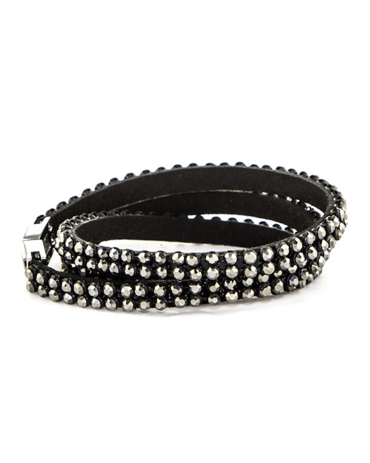 Ashton Crystal Studded Wrap Bracelet