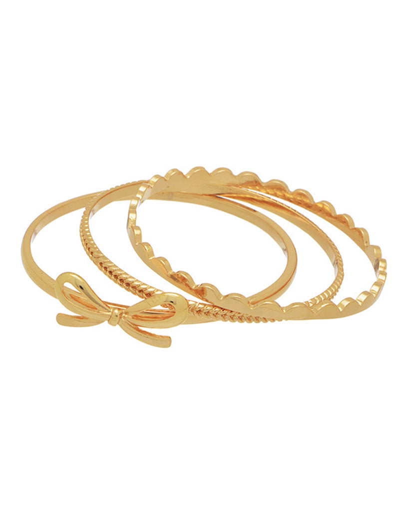 Bow Bangle Set