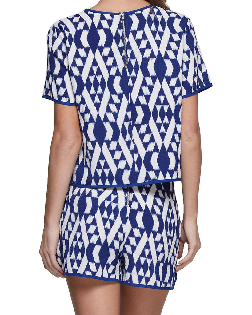Ikat Print Two Piece Set