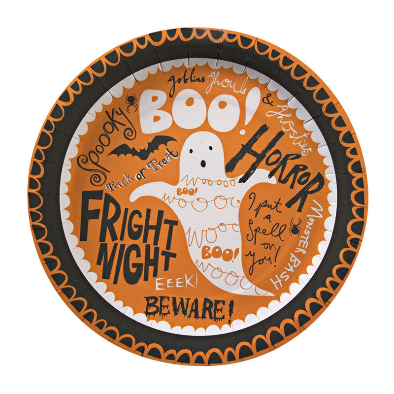 Boo! Small Party Plates - Set of 12