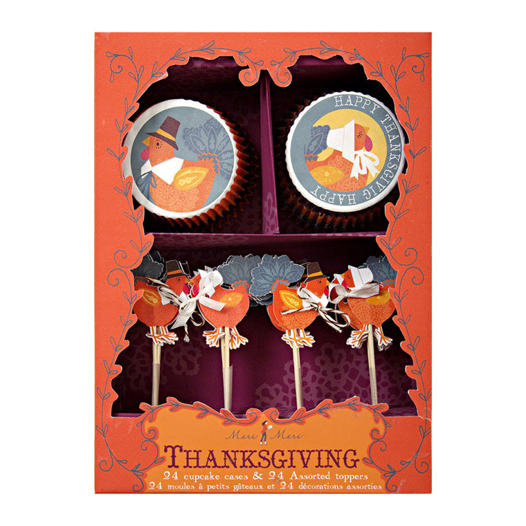Turkeys with Hat Thanksgiving Cupcake Kit