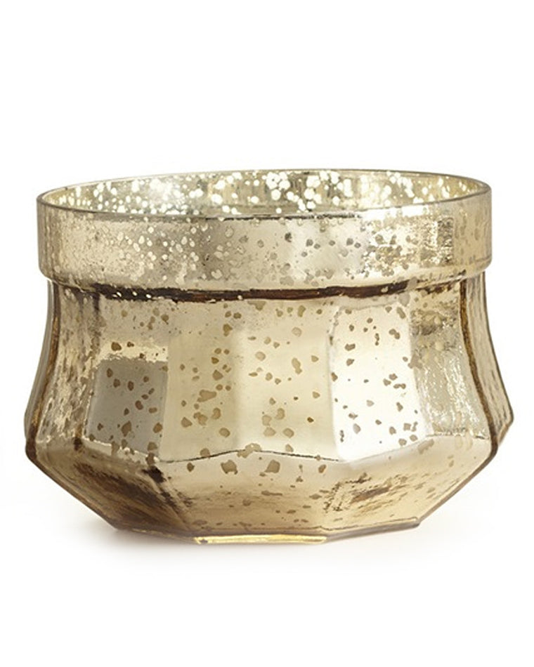 Gilded Amberleaf 3-Wick Gold Mercury Glass Candle