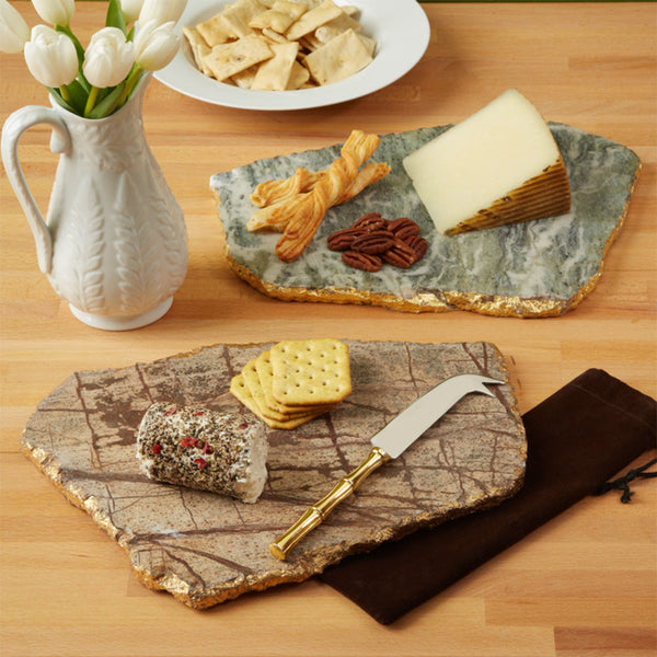 Marble Cheese Plate Set