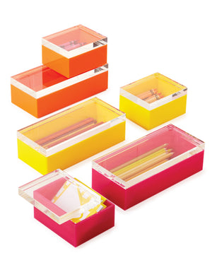 Hued Acrylic Boxes Set