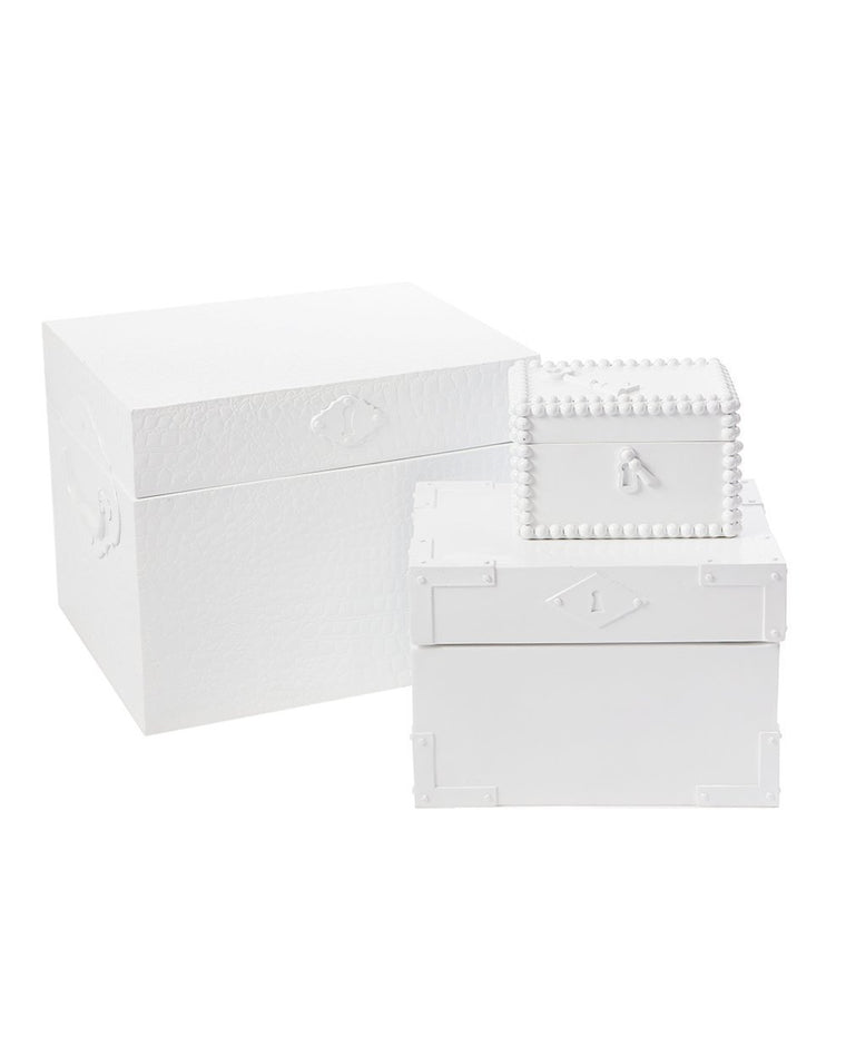 White Nesting Campaign Boxes Set