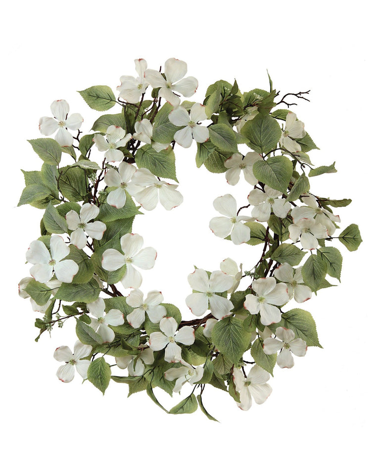 Soft Cream Dogwood Wreath