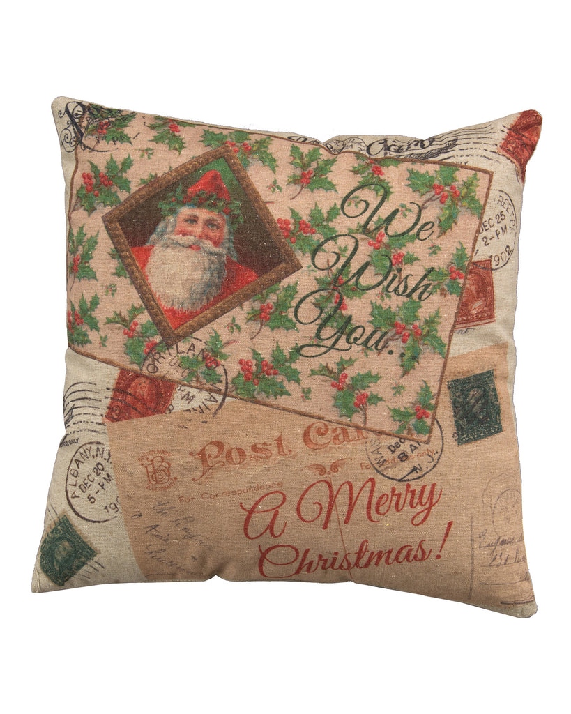 We Wish You A Merry Christmas Pillow