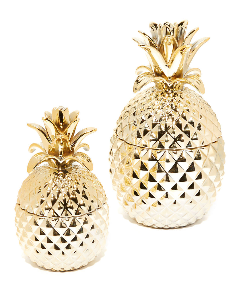 Golden Hospitality Pineapple Jar Set