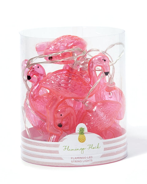 Flamingo Flock LED String Lights