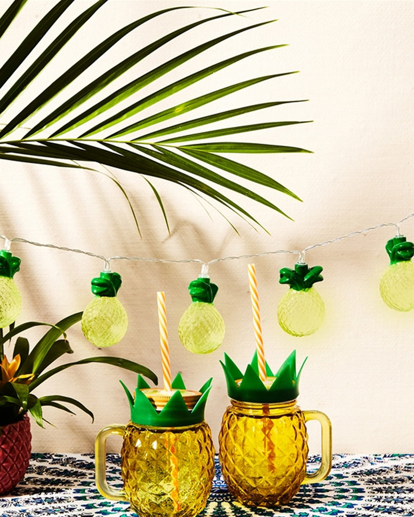 Club Tropicana Pineapple LED String Lights