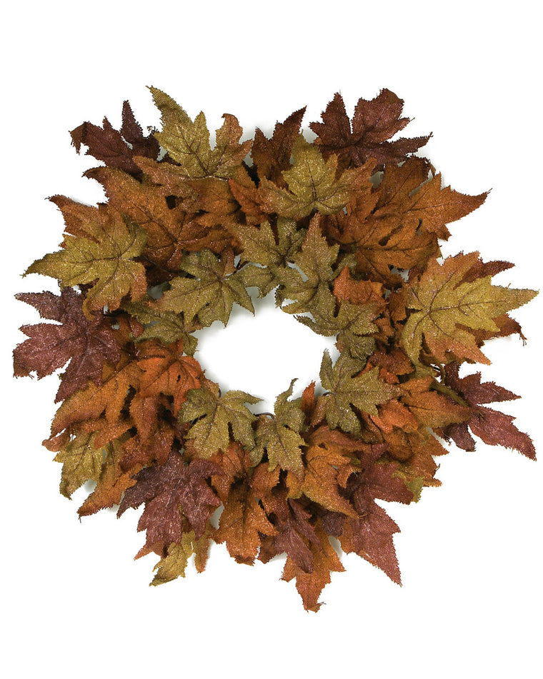 Burlap Maple Leaf Wreath
