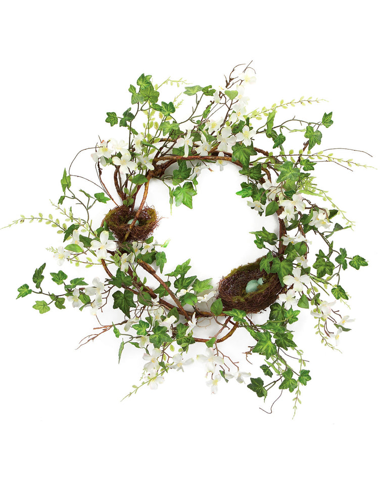 Dogwood with Nests Wreath