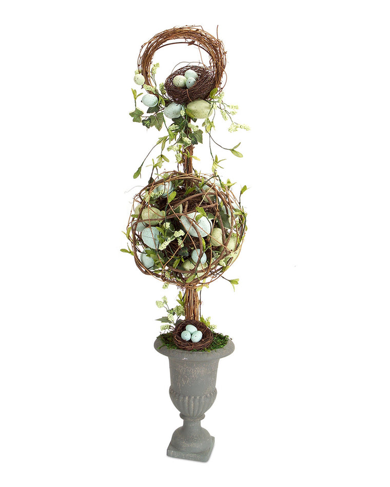 Egg and Ivy Topiary in Urn