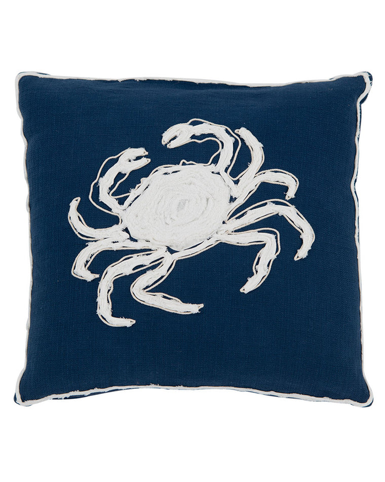 Beaufort Crab Throw Pillow