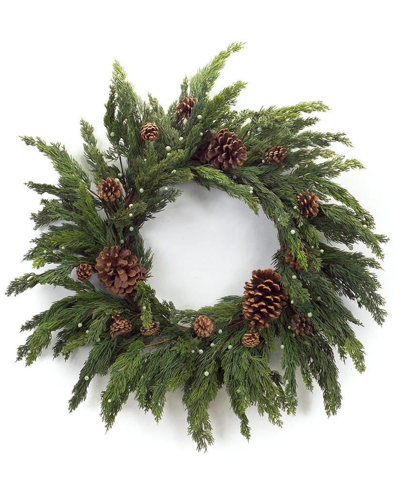 Cypress and Pinecone Wreath