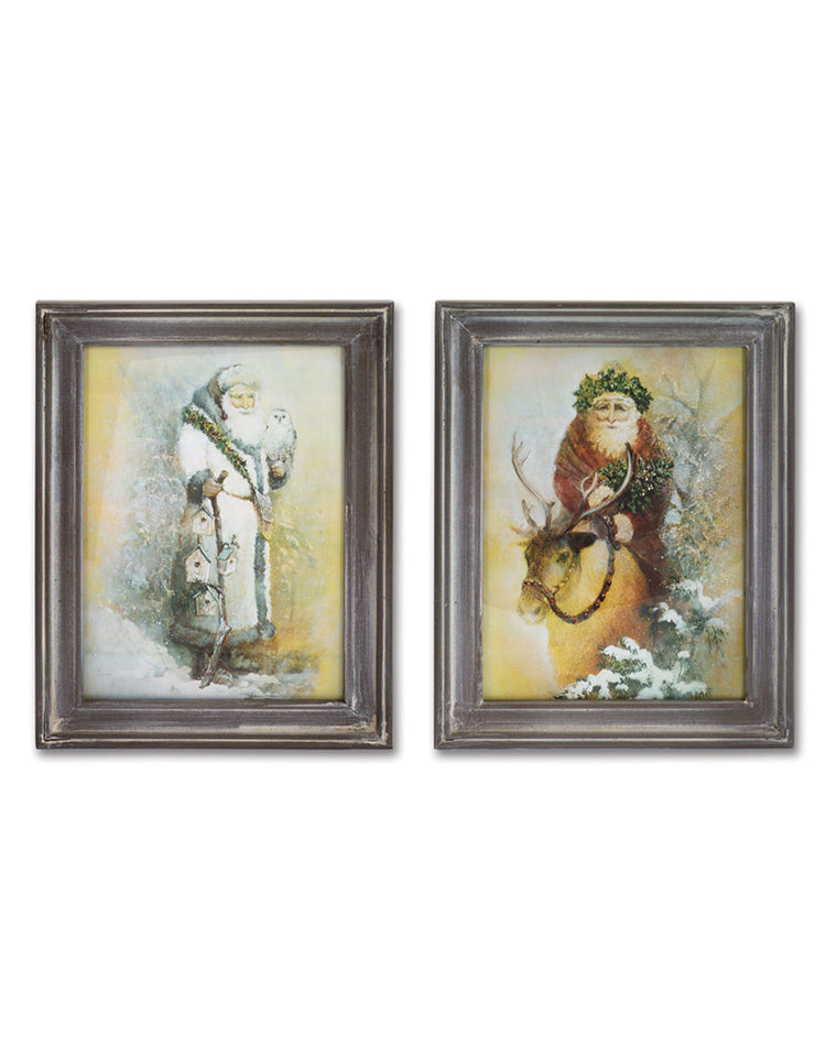 Santa Claus Framed Print Set