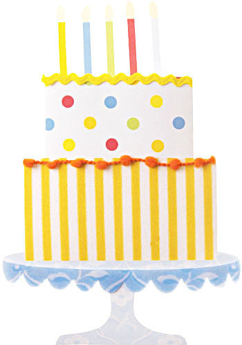 Cake on Stand Birthday Invitations