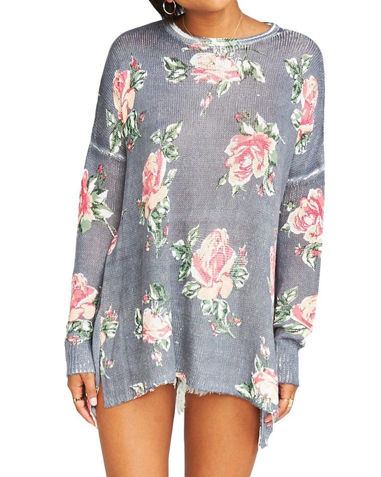 Bonfire Floral Print Sweater