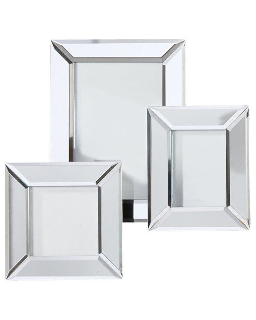 beveled mirrored frames set of 3