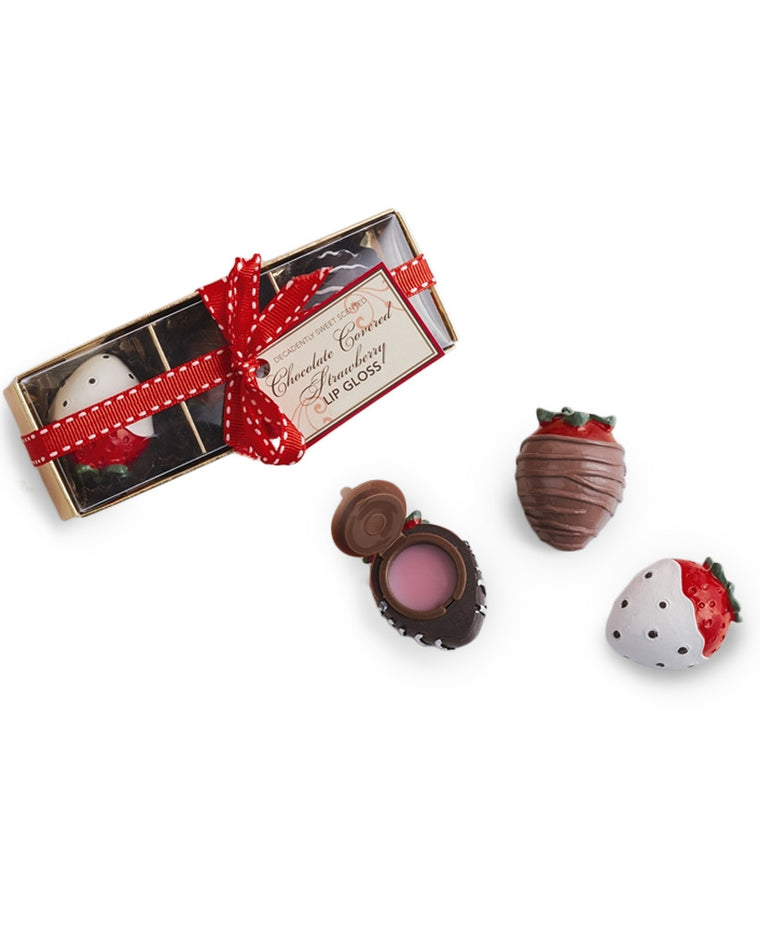 Chocolate Covered Strawberry Lip Glosses Set