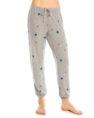 Red & Blue Star Print Sweatpants