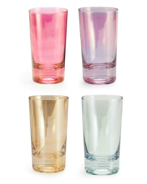 'Chez Elle' Highball Luster Glass Set