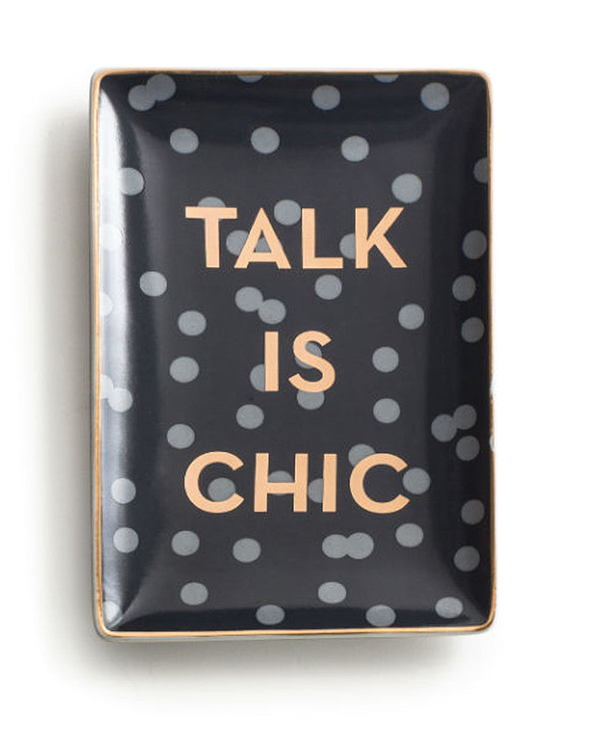 Talk Is Chic Accent Tray The Shopping Bag