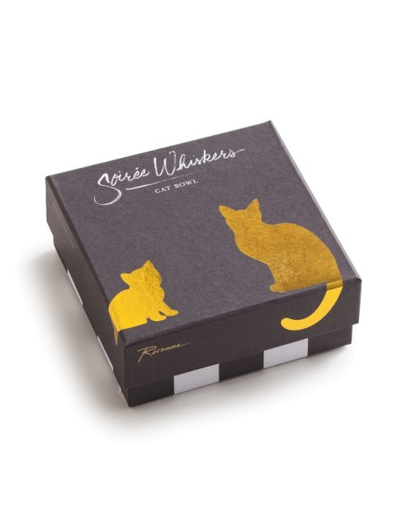 'Soiree Whiskers' Le Chat Porcelain Cat Bowl