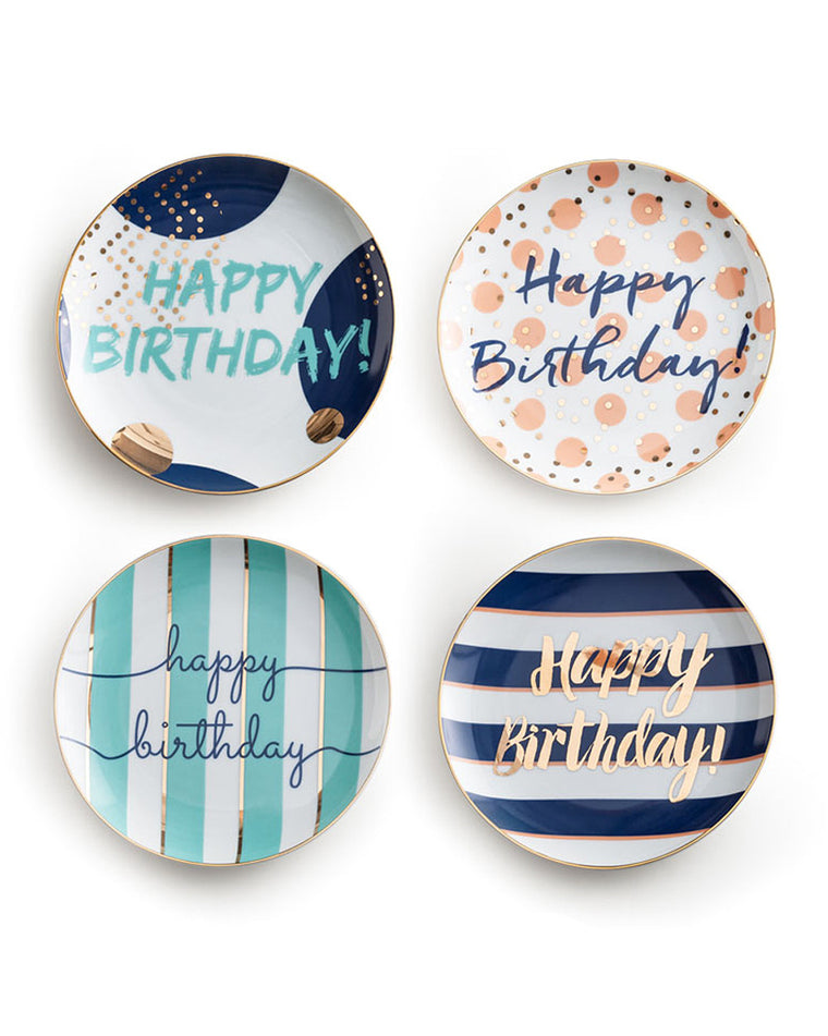 Let's Party Birthday Dessert Plate Set