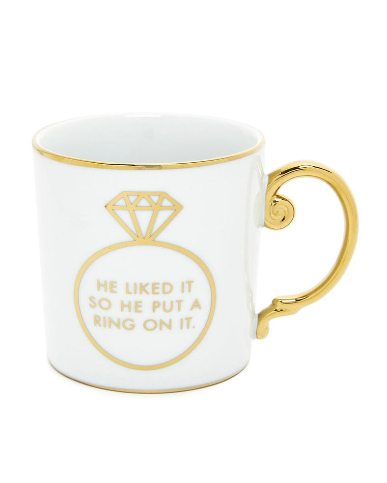 He Liked It So He Put a Ring on It Porcelain Mug