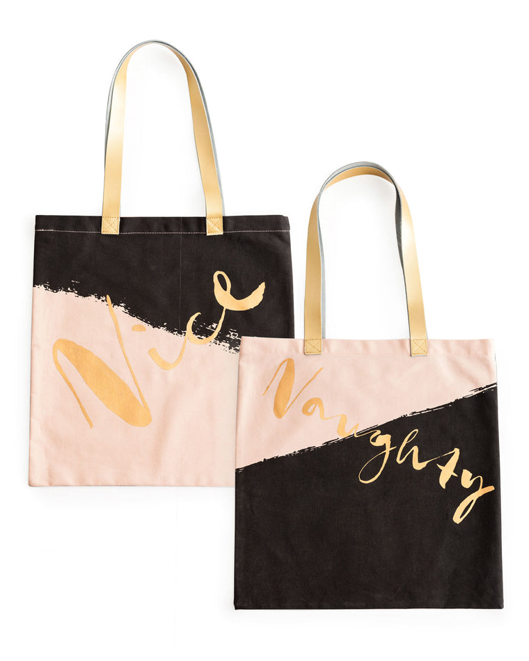 Naughty & Nice Reversible Tote Bag
